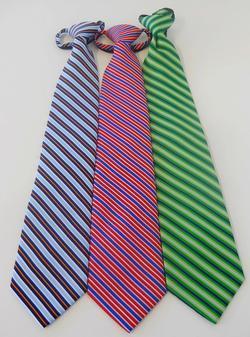 Hotel Banquet Striped Zipper Tie