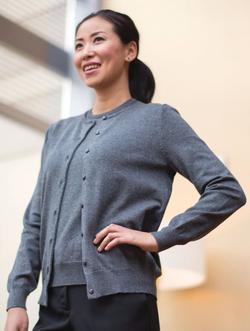 Ladies Fine Gauge Twin Sweater Set