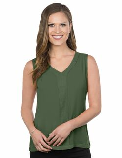 Ladies Hotel Sleeveless V-Neck Blouse