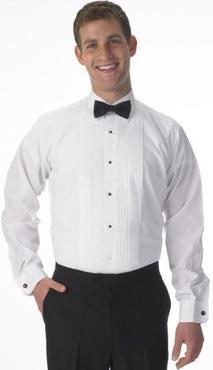 Men's Lay Collar Tuxedo Shirt