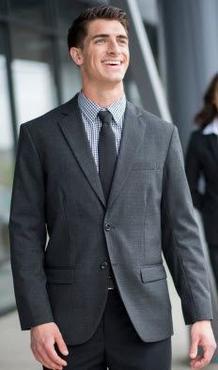 Men's Poly/Wool Double Vent Suit Jacket