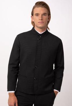 Men's Hotel Banquet Banded Notched Collar Jacket