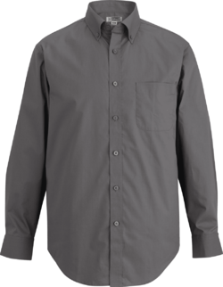 Men's Restaurant Poplin Comfort Stretch Shirt (Long & Short Sleeve)