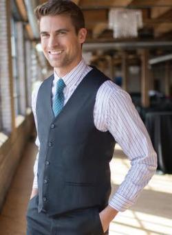 Men's Washable Poly/Wool Vest