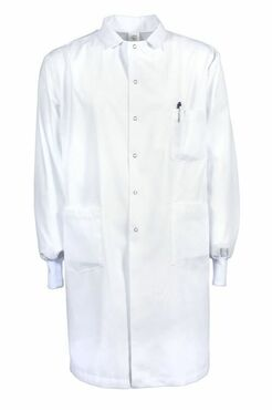 Poly/Cotton Gripper Snap 3-Pocket Knit Cuff Lab Coat