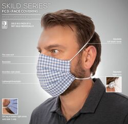 Reversible Over-the-Head Strap Pleated Face Mask- 6 Pack