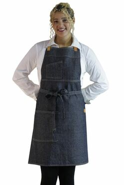 Two Pocket Selvage Edge Cotton Bib Apron