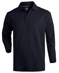 Unisex Moisture Management Cafe Long Sleeve Polo Shirt