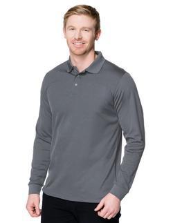 Unisex Server Long Sleeve Three Snap Button Polo Shirt