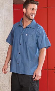Chambray Short Sleeve Server Shirt