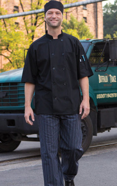 Delray Short Sleeve Mesh Back Poly Cotton Chef Coat