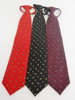 Hotel Pine Paisley Dot Zipper Tie