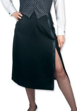Ladies Banquet Side Slit Tuxedo Skirt