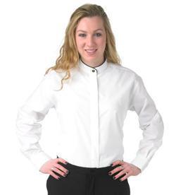 Ladies Black Trim Banded Shirt