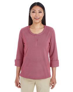 Ladies Cotton Blend Mélange Three-Quarter Sleeve Shirt
