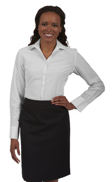 Ladies Extreme Restaurant Long Sleeve French Cuff Blouse