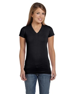 Ladies Jr. Fitted V-Neck Tee Shirt (Runs 1 to 2 sizes smaller than adult shirt)