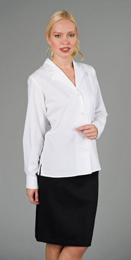 Ladies Front Desk Convertible Wing Collar Blouse