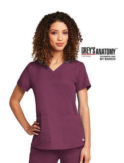 Ladies Grey's Anatomy™ 2-Pocket V-Neck Scrub Top