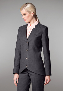 Ladies Hotel High-Low Notch Collar Tailored Suit Jacket