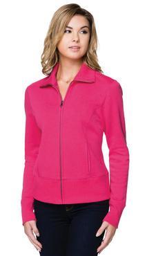 Ladies Hotel Polyester Fleece Full Zip Jacket