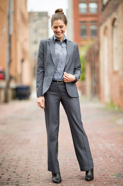 Ladies Washable Hotel Single Breasted Microfiber Suit Coat