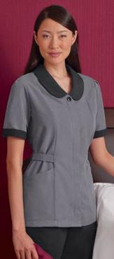 Ladies Microfiber Microcheck Housekeeping Tunic