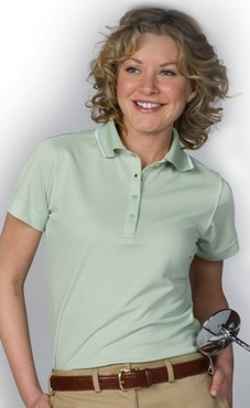 Ladies Moisture Management Polo Shirt with Tipping
