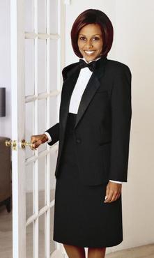 Ladies Notch Lapel Tuxedo Jacket