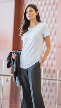 Ladies Server Drop-Neck Comfort Knit Shirt