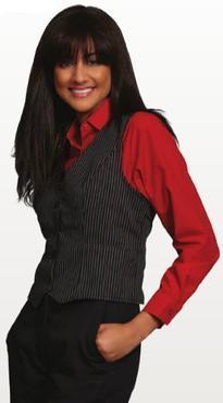 Ladies Server Striped Gangster Vest