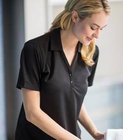 Ladies Server Two-Button Moisture Wicking Polo Shirt