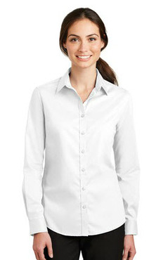 Ladies Stain and Wrinkle Resistant Long, Short and 3/4 Sleeve Twill Shirt