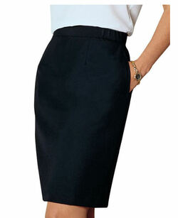 Ladies Straight Poly Skirt