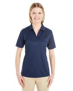 Ladies Textured Athletic Mesh Polo Shirt