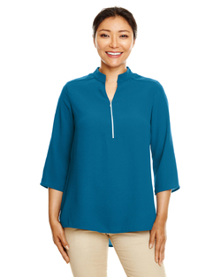 Ladies Three Quarter Sleeve Spa Crepe Tunic