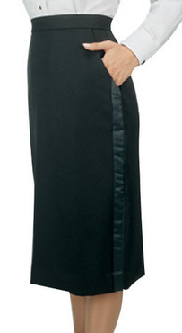 Ladies Tuxedo Skirt Below Knee