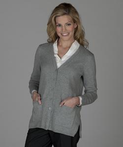 Ladies V-Neck Long Cardigan Sweater
