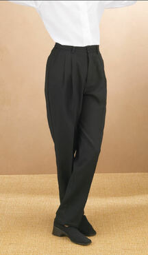 Ladies Value Polyester Pleated Comfort Fit Pant