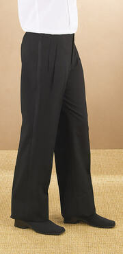 Ladies Value Polyester Pleated Tuxedo Comfort Fit Pant