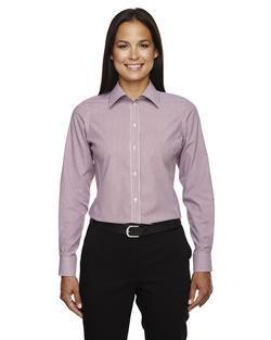 Ladies Waitress Striped No-Iron Blouse