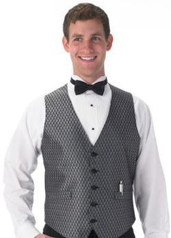 Men's Banquet Diamond Leaf Vest