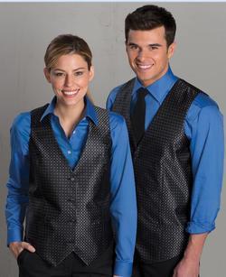 Men's Banquet Grid Brocade Vest