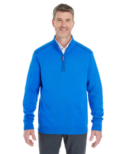 Men's Contrast Piping Half-Zip Sweater