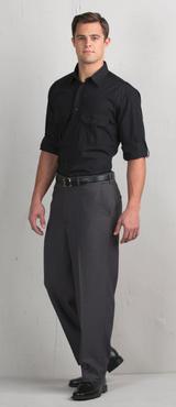 Men's Washable Flat Front Hotel Extreme No-Iron Dress Pant