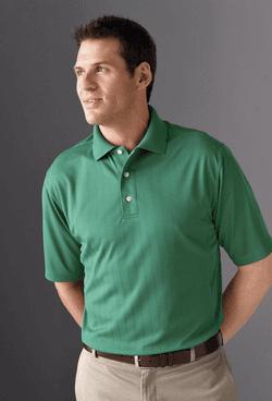 Men's Jacquard Moisture Management Pique Polo