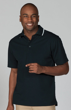Men's Moisture Management Polo with Tipping