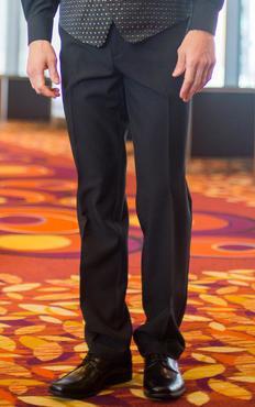 Men's Casino Flat Front No Pocket Pant