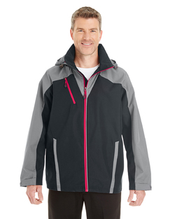 Men's Valet Interactive Shell with Reflective Printed Panels Jacket