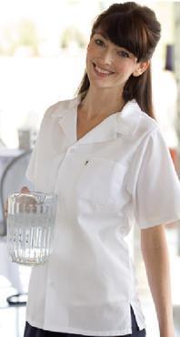 Mesh Unisex Moisture Management Short Sleeve Server Shirt